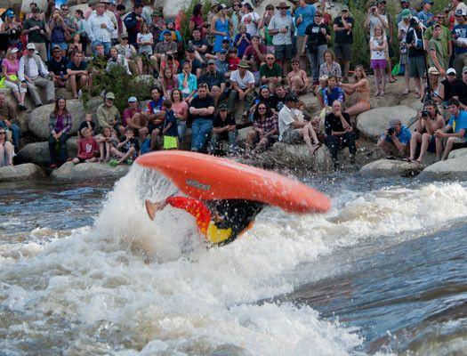 Image of Kayak Competition at PaddleFest Salida Colorado
